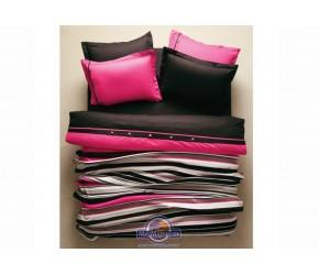 Постельное белье + плед Karaca Home - Thin розовый евро