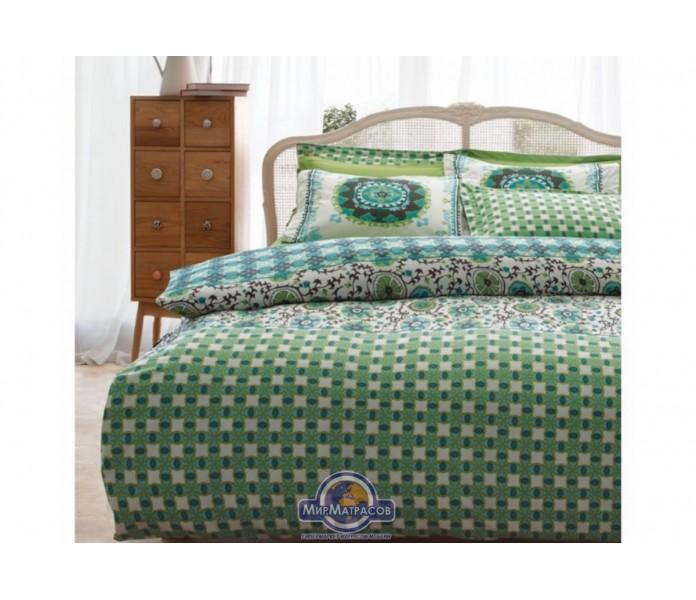 Постельное белье Karaca Home ранфорс - Sita зеленый полуторное