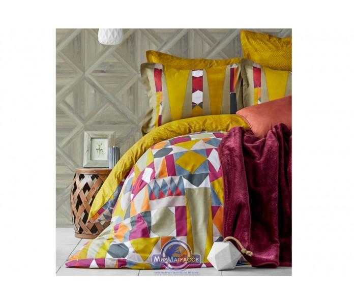 Набор постельного белья с пледом Karaca Home - Vitali 2020-1 евро