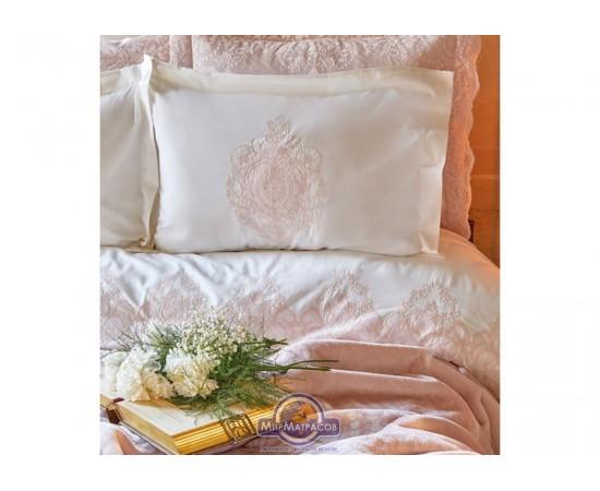 Набор постельного белья с пледом Karaca Home - Desire 2020-1 pudra пудра евро