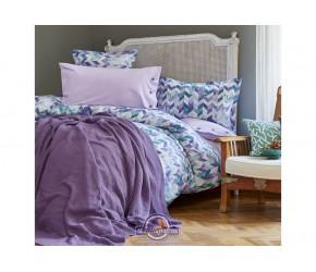 Набор постельного белья с пледом Karaca Home - Melange mor 2018-1