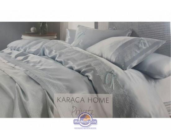 Набор постельного белья с покрывалом пике Karaca Home - Tugce su yesil 2016 бирюзовый евро