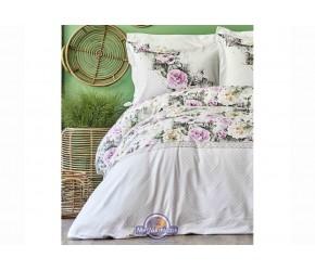 Постельное белье Karaca Home ранфорс - Elsa pembe 2020-1 розовый kingsize