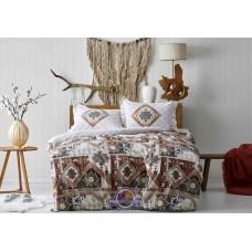 Постельное белье Karaca Home ранфорс - Alondra kiremit 2019-1 кирпичный kingsize