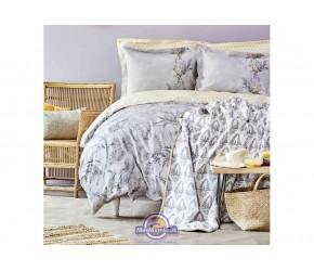 Набор постельное белье с покрывалом Karaca Home - Veronica gri 2020-1 серый евро