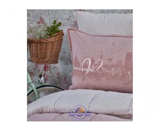 Набор постельного белья с одеялом Karaca Home - Paris pudra 2019-2 пудра евро