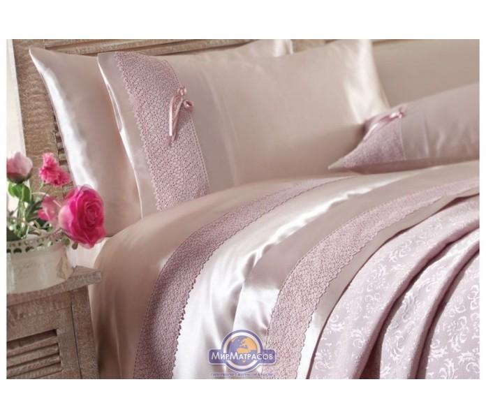 Набор постельного белья с покрывалом пике Karaca Home - Tugce g. kurusu 2016 розовый евро