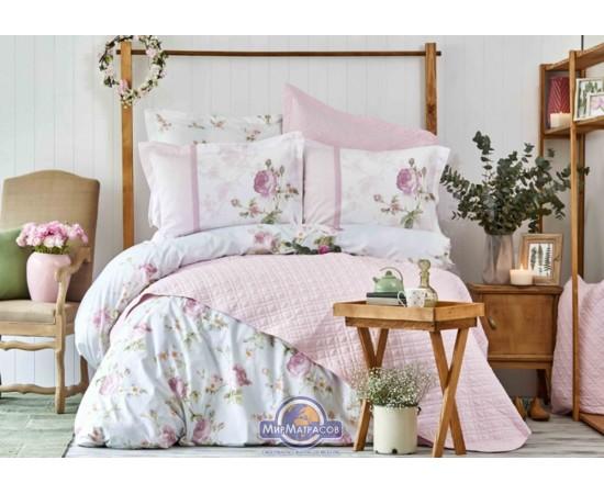 Постельное белье Karaca Home ранфорс - Rosa pembe 2018-2 розовый евро