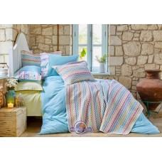 Набор постельного белья с покрывалом Karaca Home - Mood ZigZag 2018-2