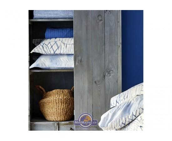 Постельное белье Karaca Home - Felinda mavi 2019-2 голубой пике евро
