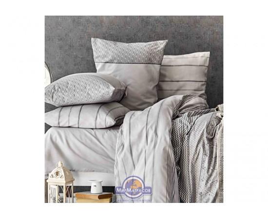 Набор постельного белья с покрывалом Karaca Home - Sadra gri 2020-1 серый евро