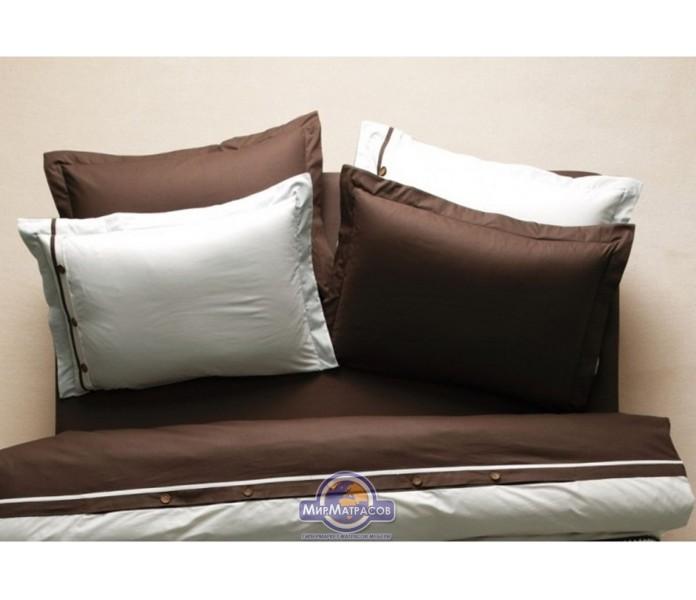 Постельное белье Karaca Home ранфорс - Solid кофе полуторное