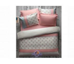 Постельное белье Karaca Home - Meyra pembe розовый пике евро
