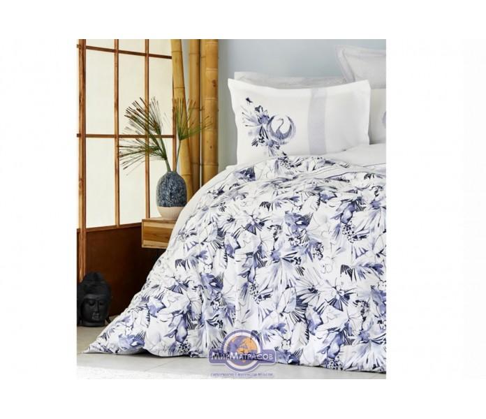 Постельное белье Karaca Home ранфорс - Teru mavi 2019-2 голубой евро