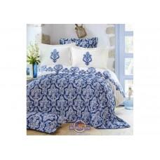 Набор постельного белья с покрывалом Karaca Home - Matteo indigo 2018-2