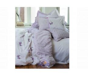Постельное белье Karaca Home ранфорс - Alisse розовый полуторное