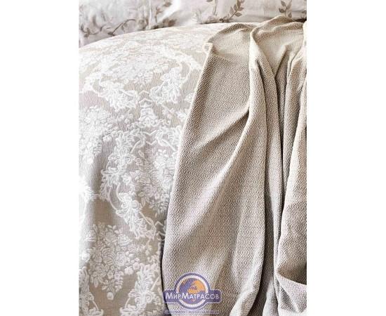 Набор постельное белье с покрывалом + плед Karaca Home - Quatre royal gold 2020-1 золотой евро