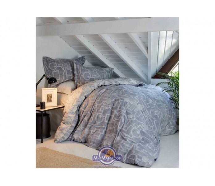 Постельное белье Karaca Home ранфорс - Alto gri 2019-1 серый kingsize