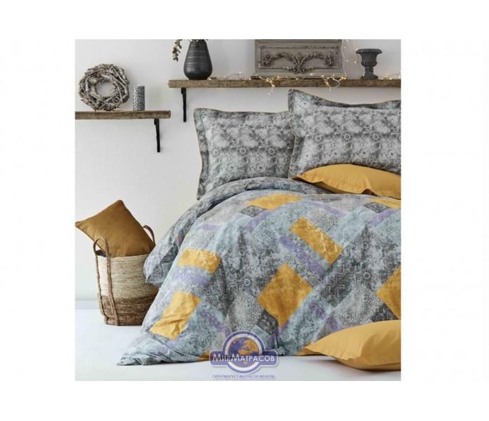 Постельное белье Karaca Home ранфорс - Buruna hardal 2019-2 горчичный полуторное
