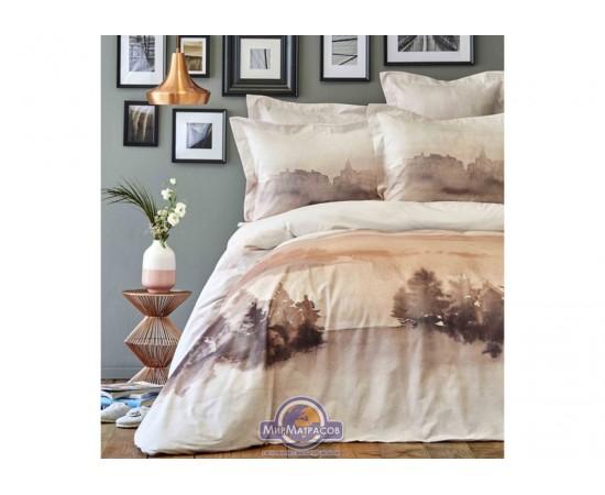 Постельное белье Karaca Home ранфорс - Lindara blush 2019-1 пано евро
