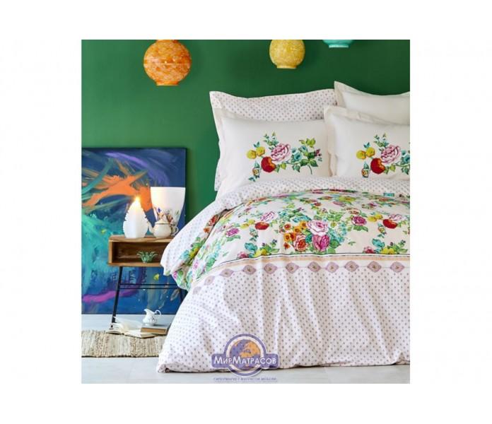 Постельное белье Karaca Home ранфорс - Irini fusya 2019-2 фуксия евро