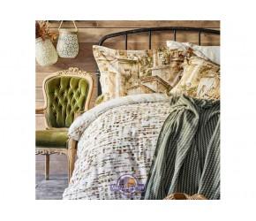 Набор постельного белья с пледом Karaca Home - Vella yesil 2020-1 зеленый евро