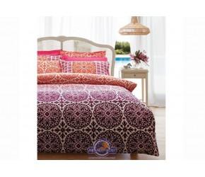 Постельное белье Karaca Home ранфорс - Berry bordo бордовый полуторное