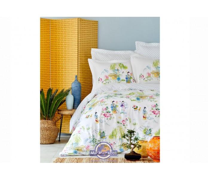 Постельное белье Karaca Home - Hinata yesil 2019-2 зеленый пике евро