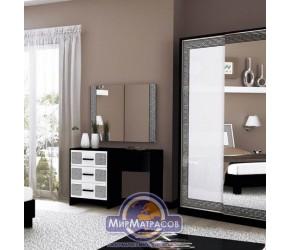 """Туалетный столик """"Виола"""" Miro Mark (Белый/Черный мат)"""