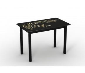 """Стеклянный стол Sentenzo """"Монарх Черный зефир"""""""