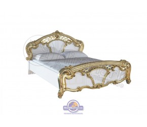 """Кровать """"Ева"""" Miro Mark (Глянец белый/Золото)"""