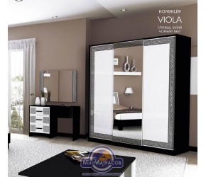 "Шкаф-купе ""Виола"" Miro Mark (Белый/Черный мат) 2,0м"