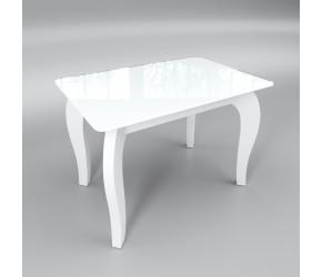 """Стеклянный стол Sentenzo """"Император мини белый"""""""