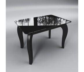 """Стеклянный стол Sentenzo """"Император мини  черный"""""""