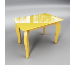 "Стеклянный стол Sentenzo ""Император мини  желтый"""
