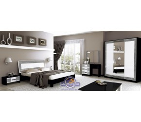 """Спальня """"Виола"""" Miro Mark (Белый/Черный мат)"""
