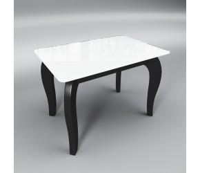 """Стеклянный стол Sentenzo """"Император минибело-черный"""""""