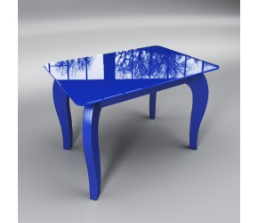 """Стеклянный стол Sentenzo """"Император мини синий"""""""