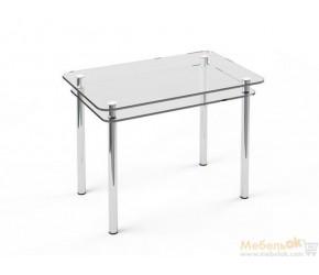 """Стеклянный стол Sentenzo """"Кристалл с полкой"""""""