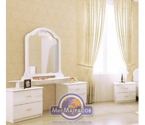 "Туалетный столик ""Футура"" Miro Mark (Белый глянец) 4ящ"